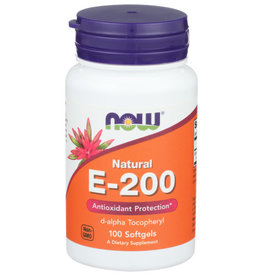 NOW FOODS NOW E-200 DIETARY SUPPLEMENT, 100 SOFTGELS