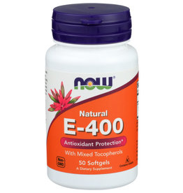 NOW® Now Natural E-400 Antioxidant Protection 50 Softgels