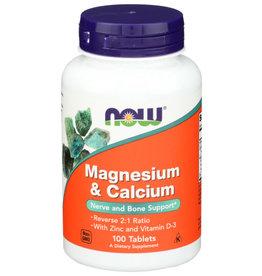 NOW® Magnesium&Calcium2:1Ratio 100tabs