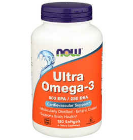 NOW® Now Ultra Omega3 Cardiovascular Support 180 Softgels