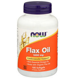 NOW® NOW FLAX OIL 1000 MG. DIETARY SUPPLEMENT, 100 SOFTGELS