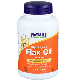 NOW FOODS NOW HIGH LIGNAN 1000 MG. FLAX OIL DIETARY SUPPLEMENT, 120 SOFTGELS