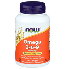 NOW FOODS Now Omega3-6-9 100mg Essential Fatty Acids 100 Softgels