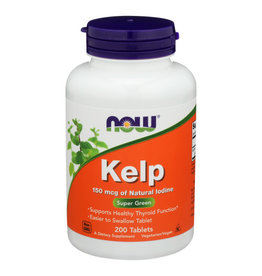 NOW FOODS Now Kelp 150mcg Natural Iodine Super Green 200 Tablets