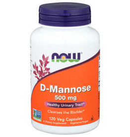 NOW® NOW D-MANNOSE POWDER 500 MG, 120 CAPS.