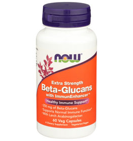 NOW FOODS NOW EXTRA STRENGTH BETA-GLUCANS DIETARY SUPPLEMENT VEG CAPSULES, 60 COUNT