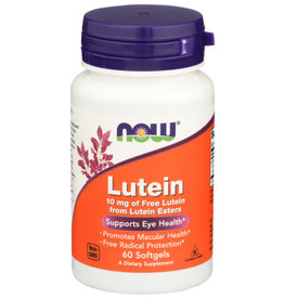 NOW FOODS Now Lutein 10mg of Free Lutein Supports Eye Health 60 Softgels