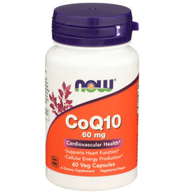 NOW FOODS NOW COQ10 60 MG. DIETARY SUPPLEMENT, 60 COUNT