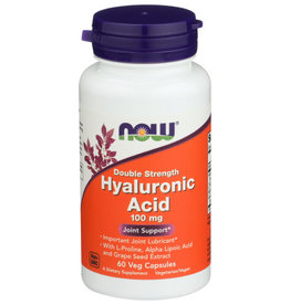 NOW FOODS Now Hyaluronic Acid 100mg Joint Support 60 Veg Capsules