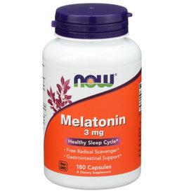 NOW® NOW FOODS MELATONIN 3 MG., 180 CAPSULES