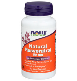 NOW FOODS Now Ntrl Resveratrol 50mg Cardiovascular Support 60 V Capsules
