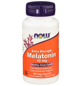 NOW FOODS Now Melatonin 10mg Healthy Sleep Cycle 100 Veg Capsules