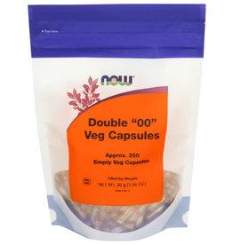 """NOW® Now Double """"00"""" Veg Capsules 250 Empty Veg Capsules"""
