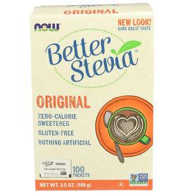 NOW® NOW BETTER STEVIA ORIGINAL ZERO-CALORIE SWEETENER, 100 COUNT
