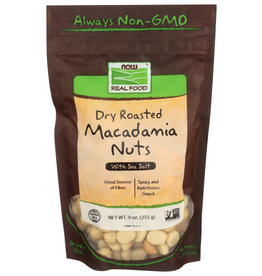 NOW FOODS NOW REAL FOOD DRY ROASTED MACADAMIA NUTS, 9 OZ.