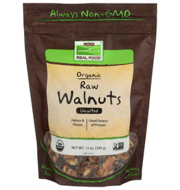 NOW REAL FOOD® NOW REAL FOOD ORGANIC RAW UNSALTED WALNUTS, 12 OZ.