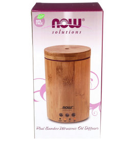 NOW® SOLUTIONS NOW OIL DIFFUSER BAMBOO ULTRASONIC, 1 EACH