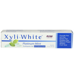 NOW® SOLUTIONS NOW SOLUTIONS XYLI-WHITE MINT/BAKING SODA TOOTHPASTE, 6.4 OZ.