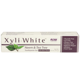 NOW® SOLUTIONS NOW SOLUTIONS XYLIWHITE NEEM & TEA TREE TOOTHPASTE GEL, 6.4 OZ.