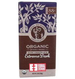 EQUAL EXCHANGE SMALL FARMER CHOCOLATE BAR, EXTREME DARK CHOCOLATE, 2.8 OZ.
