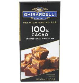 GHIRARDELLI CHOCOLATE® Ghirardelli 100% Cacao Unsweetened Chocolate 4 oz