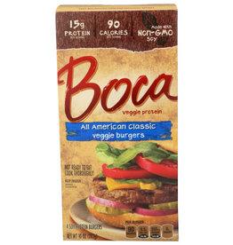 BOCA BOCA VEGGIE BURGERS, ALL AMERICAN CLASSIC, 4 EACH