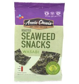 ANNIE CHUN'S® ANNIE CHUN'S ROASTED SEAWEED SNACKS, WASABI, .35 OZ.