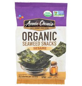 ANNIE CHUN'S® ANNIE CHUN'S ORGANIC SEAWEED SNACKS, SESAME, .35 OZ.