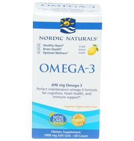 NORDIC NATURALS NORDIC NATURALS OMEGA-3 DIETARY SUPPLEMENT, 60 SOFT GELS