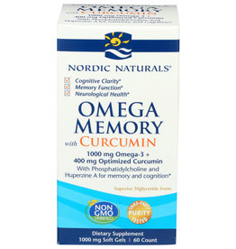 NORDIC NATURALS NORDIC NATURALS OMEGA MEMORY WITH CURCUMIN DIETARY SUPPLEMENT, 60 COUNT