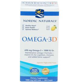NORDIC NATURALS NORDIC NATURALS OMEGA-3D LEMON FLAVOR SUPER TRIGLYCERIDE FORM DIETARY SUPPLEMENT, 120 COUNT