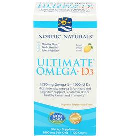 NORDIC NATURALS NORDIC NATURALS ULTIMATE OMEGA-D3 DIETARY SUPPLEMENT, 120 COUNT