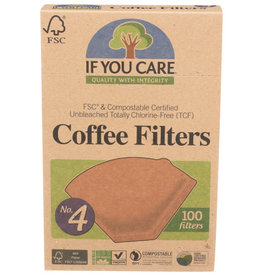 IF YOU CARE IF YOU CARE FSC CERTIFIED NO. 4 COFFEE FILTERS, 100 FILTERS