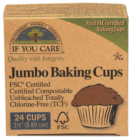 IF YOU CARE IF YOU CARE FSC CERTIFIED JUMBO BAKING CUPS, 24 CUPS