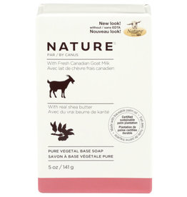 NATURE™ NATURE BY CANUS FRESH CANADIAN GOAT MILK AND REAL SHEA BUTTER PURE VEGETAL BASE SOAP, 5 OZ.