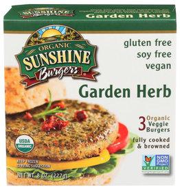 SUNSHINE BURGERS® SUNSHINE BURGERS GARDEN HERB GLUTEN-FREE ORGANIC VEGGIE, 3 PATTIES