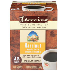 TEECCINO® TEECCINO CHICORY HERBAL TEA, HAZELNUT, MEDIUM ROAST, 10 TEA BAGS