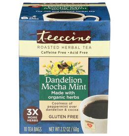 TEECCINO® TEECCINO DANDELION MOCHA MINT GLUTEN FREE CHICORY HERBAL TEA, 10 TEA BAGS