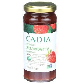 CADIA CADIA ORGANIC STRAWBERRY PRESERVES, 11 OZ.