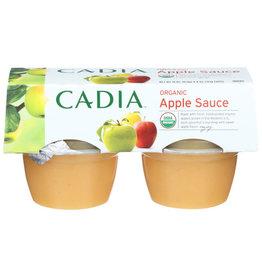 CADIA CADIA ORGANIC APPLE SAUCE, 4 COUNT