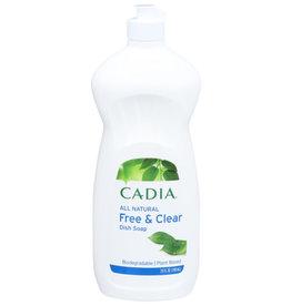 CADIA CADIA ALL NATURAL FREE & CLEAR DISH SOAP, 25 FL. OZ.
