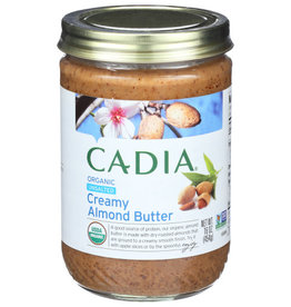 CADIA CADIA ORGANIC UNSALTED CREAMY ALMOND BUTTER, 16 OZ.