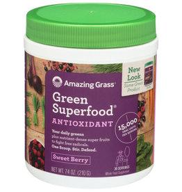 AMAZING GRASS® AMAZING GRASS GREEN SUPERFOOD ANTIOXIDANT, SWEET BERRY, 30 SERVINGS