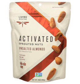 LIVING INTENTIONS LIVING INTENTIONS ACTIVATED SPROUTED NUTS, UNSALTED ALMONDS, 16 OZ.