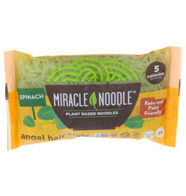 MIRACLE NOODLE MIRACLE NOODLE SHIRATAKI PASTA, SPINACH ANGEL HAIR, 7 OZ.