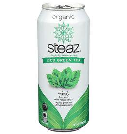 STEAZ® STEAZ ICED GREEN TEA, MINT FLAVOR, 16 FL. OZ.