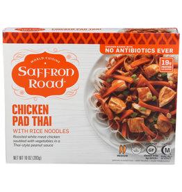 SAFFRON ROAD SAFFRON ROAD FROZEN MEAL, CHICKEN PAD THAI WITH RICE NOODLES, 10 OZ. BOX