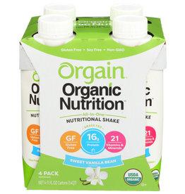 ORGAIN® ORGAIN® ORGANIC NUTRITION™ ALL-IN-ONE NUTRITIONAL SHAKE  SWEET VANILLA BEAN 4 PACK