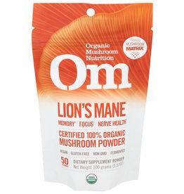 OM, ORGANIC MUSHROOM NUTRITION Om Powder Lions Mane OG Mushroom Powder 3.5 oz
