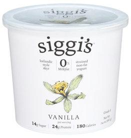 SIGGI'S® SIGGI'S ICELANDIC STYLE SKYR STRAINED NON-FAT VANILLA YOGURT, 24 OZ.